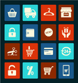 Shopping icons set - vector image