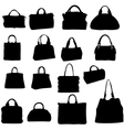 women bags silhouette vector image