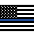 Police Law Enforcement American Flag vector image