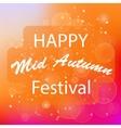 Happy Mid Autumn Orange Backgound vector image