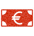 euro banknote grunge icon vector image