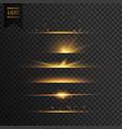 set of golden stars transparent light effect vector image