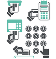 ATM keypad and POS-Terminal - simple icons vector image vector image