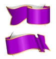 Violet ribbon collection vector image vector image