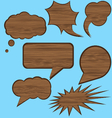 wood speech bubbles vector image vector image