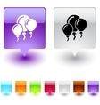 Balloons square button vector image