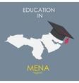 Business School Education in Mena Region Concept vector image