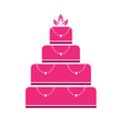 Cake wedding vector image