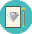 Creativity inspiration concept Flat design Icon in vector image