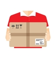 Delivery courier background vector image
