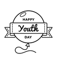 Happy Youth day greeting emblem vector image