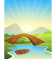 Landscape With Bridge vector image