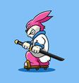 Rabbit Samurai vector image
