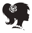 Vintage cameo women silhouette vector image