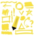 Yellow Marker Isolated vector image