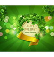 green background the holiday st Patrika vector image vector image