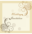 Wedding Invitation with ornaments vector image