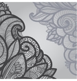 gray outline floral on light vector image