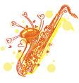 abstract sketchy sax vector image