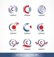Letter C logo icon set vector image