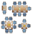 Dining furniture top view set 3 for interior vector image