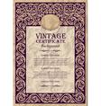 vintage frame design - art nouveau vector image vector image