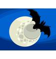 bat at night cartoon vector image