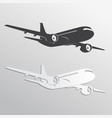 black and white airplane39s silhouettes vector image