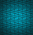 blue seamless floral background vector image
