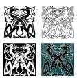 Dragons celtic knot vintage pattern vector image