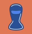 icon in flat design balaclava vector image