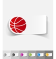 realistic design element basketball vector image