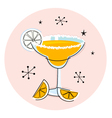 retro yellow margarita vector image