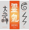 Symbols Reiki signs vector image