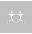 Pair computer symbol vector image