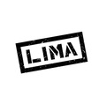 Lima rubber stamp vector image