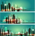city at night Cityscape vector image vector image