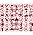 forbidden icons vector image vector image