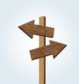 Wooden arrow signs vector image