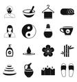Spa simple icons set vector image