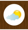 cloudy day design vector image