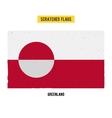 Greenlandic grunge flag vector image
