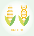 Genetically Modified Organisms GMO FREE emblem vector image