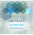 abstract science background hexagon vector image
