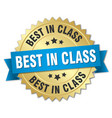 best in class round isolated gold badge vector image