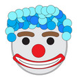 carnival clown mask vector image