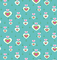 cute heart seamless pattern vector image