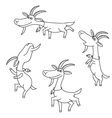 Goat figures on white background vector image