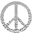 musical peace symbol vector image