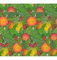 Seamless pattern with hand drawn apple branches vector image